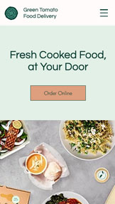 Restaurants en eten website templates – Food Delivery