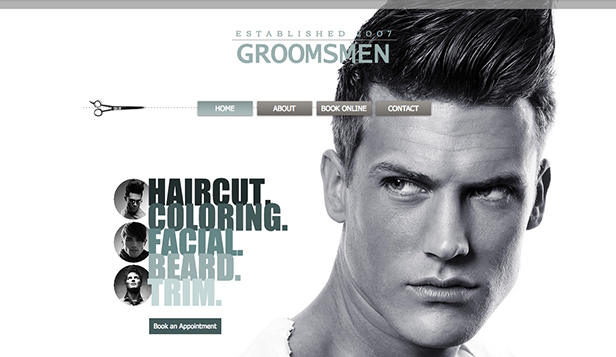 Schoonheid en kapsels website templates – Herensalon