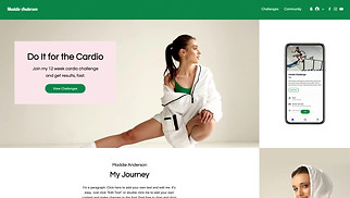 All website templates - Fitness Program