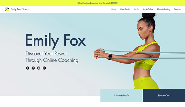 Gezondheid en wellness website templates – Fitness Trainer