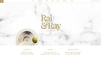 Restaurants & Food website templates - Lounge Bar