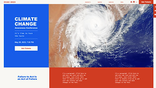 Conferences & Meetups website templates - Climate Change Conference