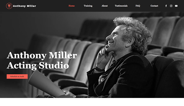 Lekce a kurzy website templates – Acting Studio