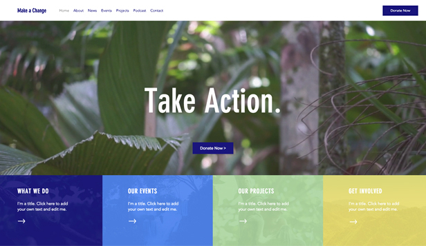 Non-Profit website templates – Milieu-NGO