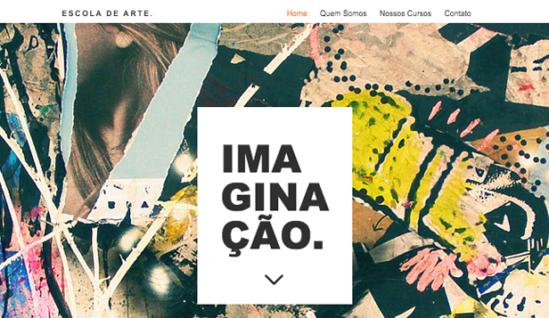 Artes Criativas website templates – Escola de Arte