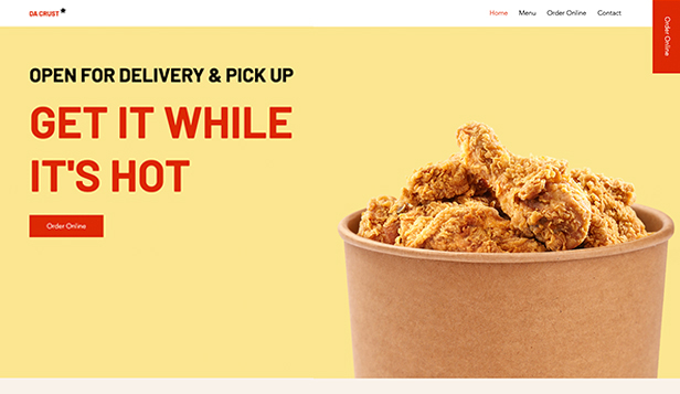 Novo website templates – Delivery de Fast Food
