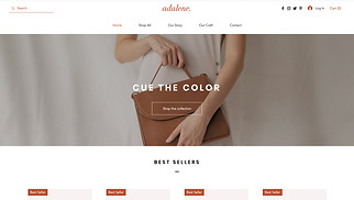 Accessories website templates - Accessories Store
