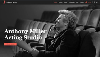 Creative Arts website templates - Acting Studio