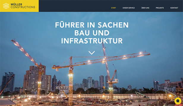 Immobilien website templates – Baufirma