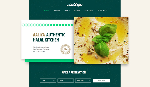 コミュニティ website templates – Halal Food Restaurant