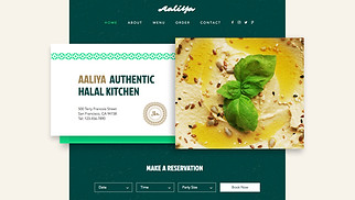 Religion website templates - Halal Food Restaurant